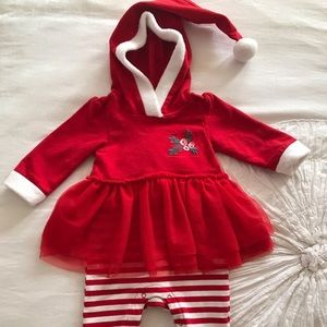 Cat & Jack Christmas Outfit 3-6 months